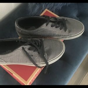 Grey Vans Skate Shoes